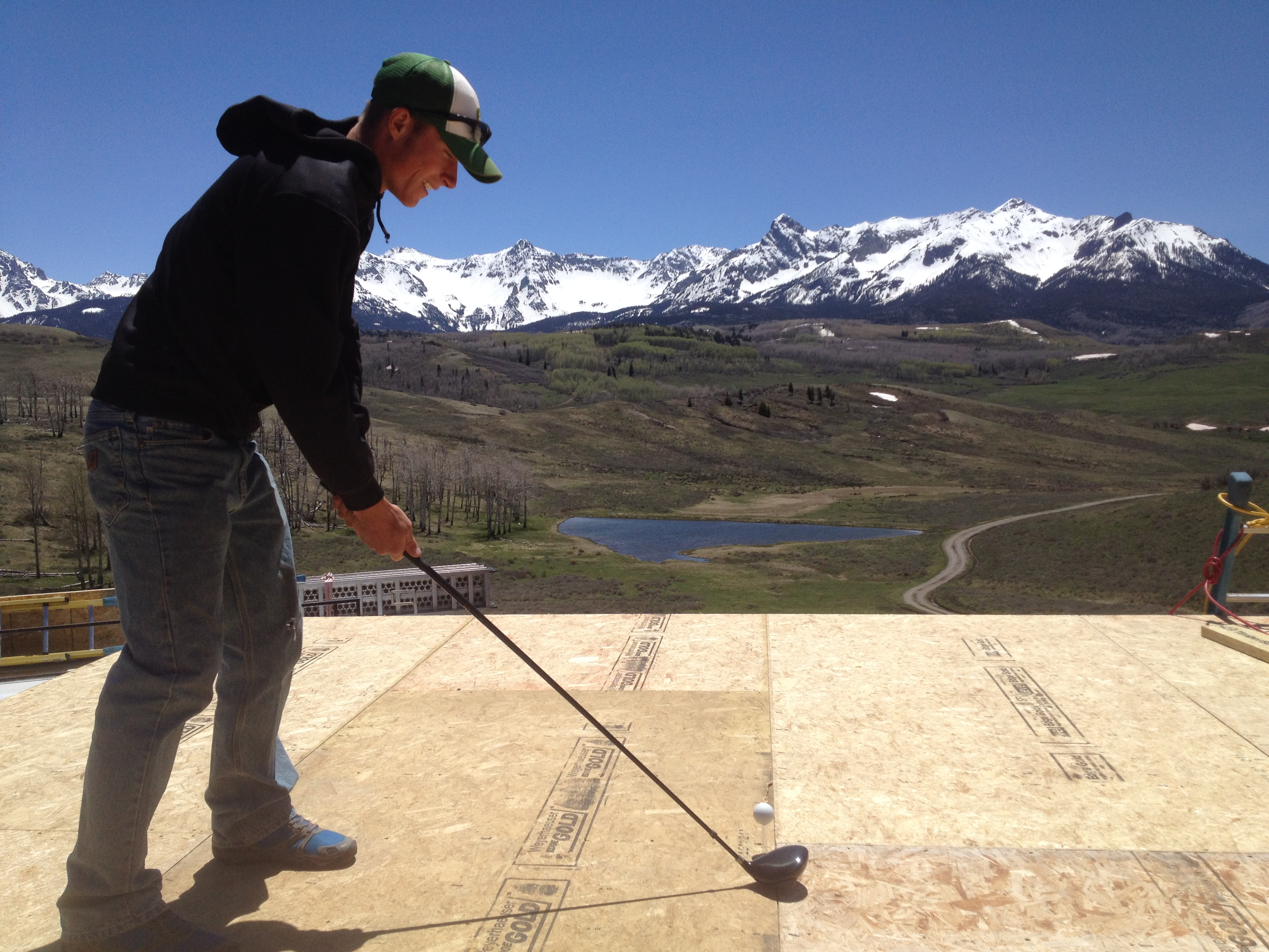 San Juan Mountains with golf