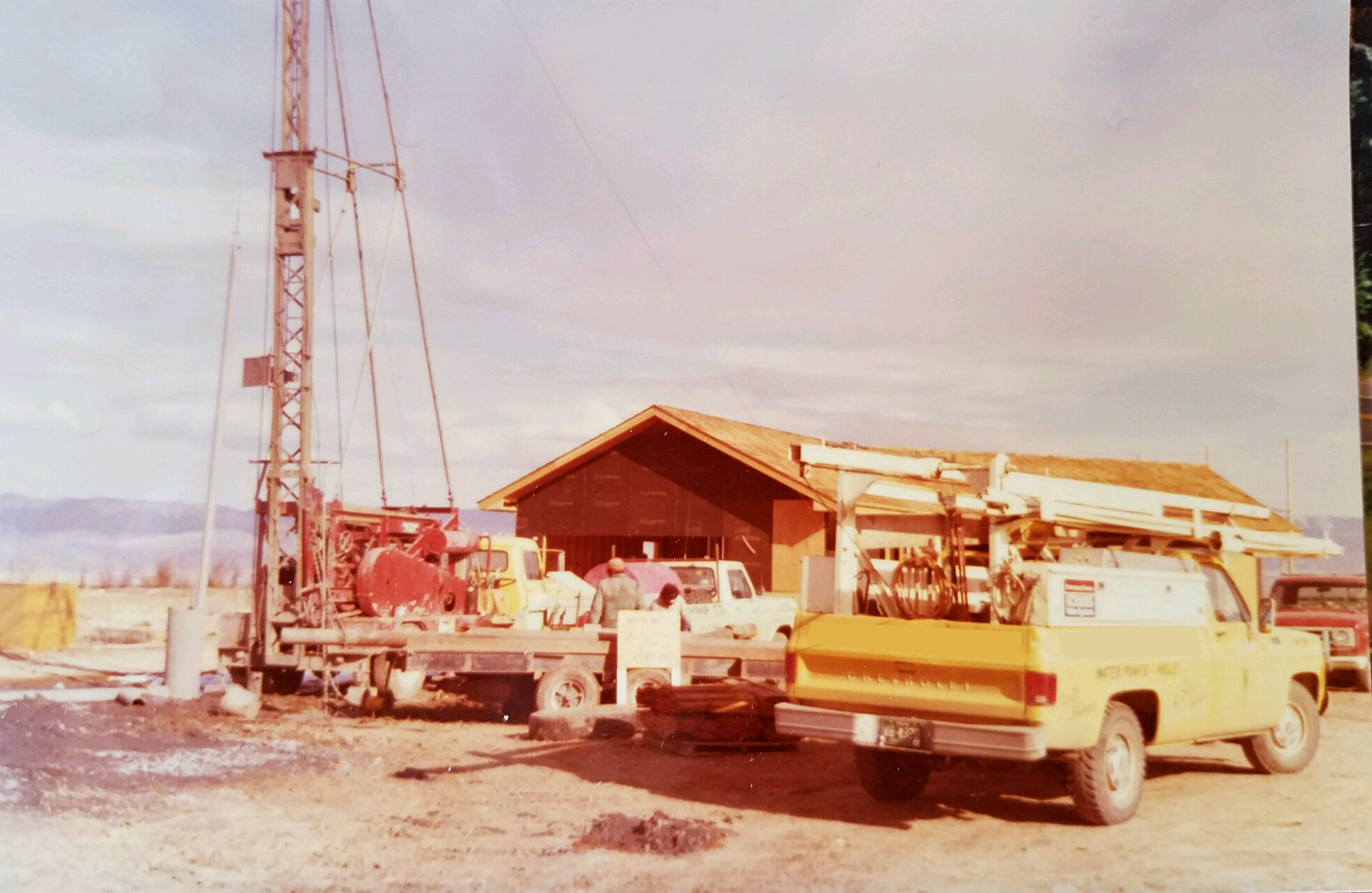 vintage photo of well drilling