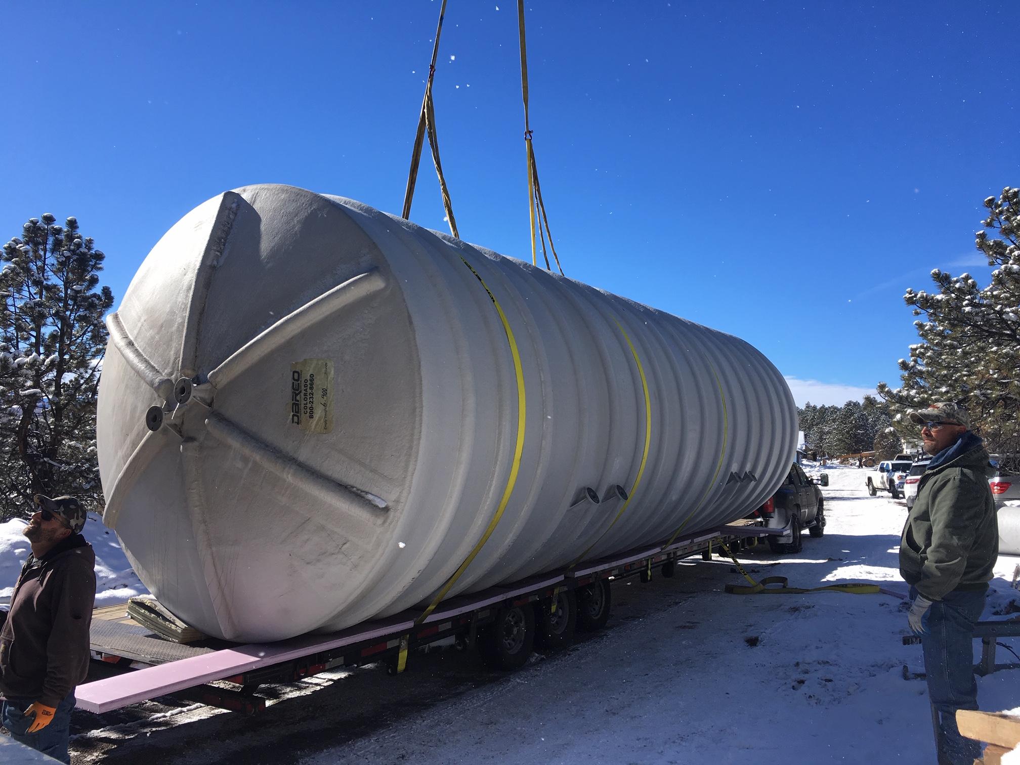 large cistern tank