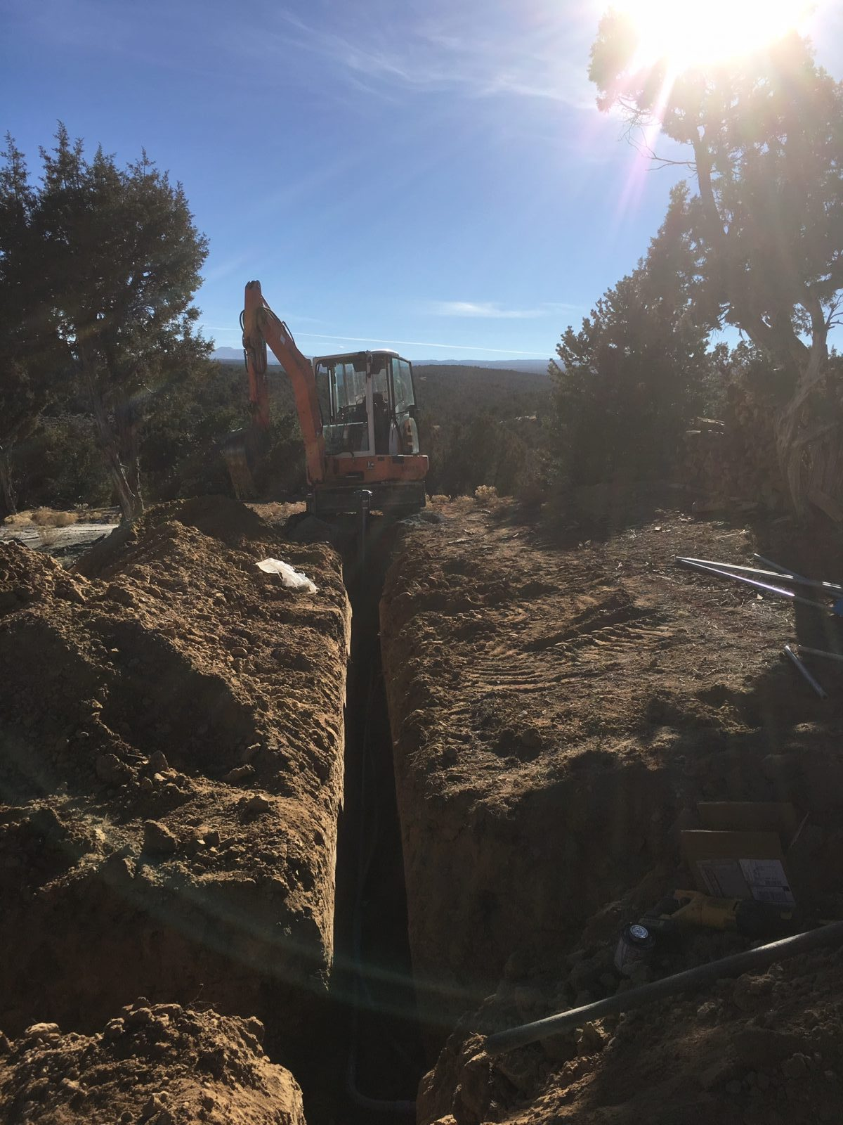 excavating water lines in Colorado