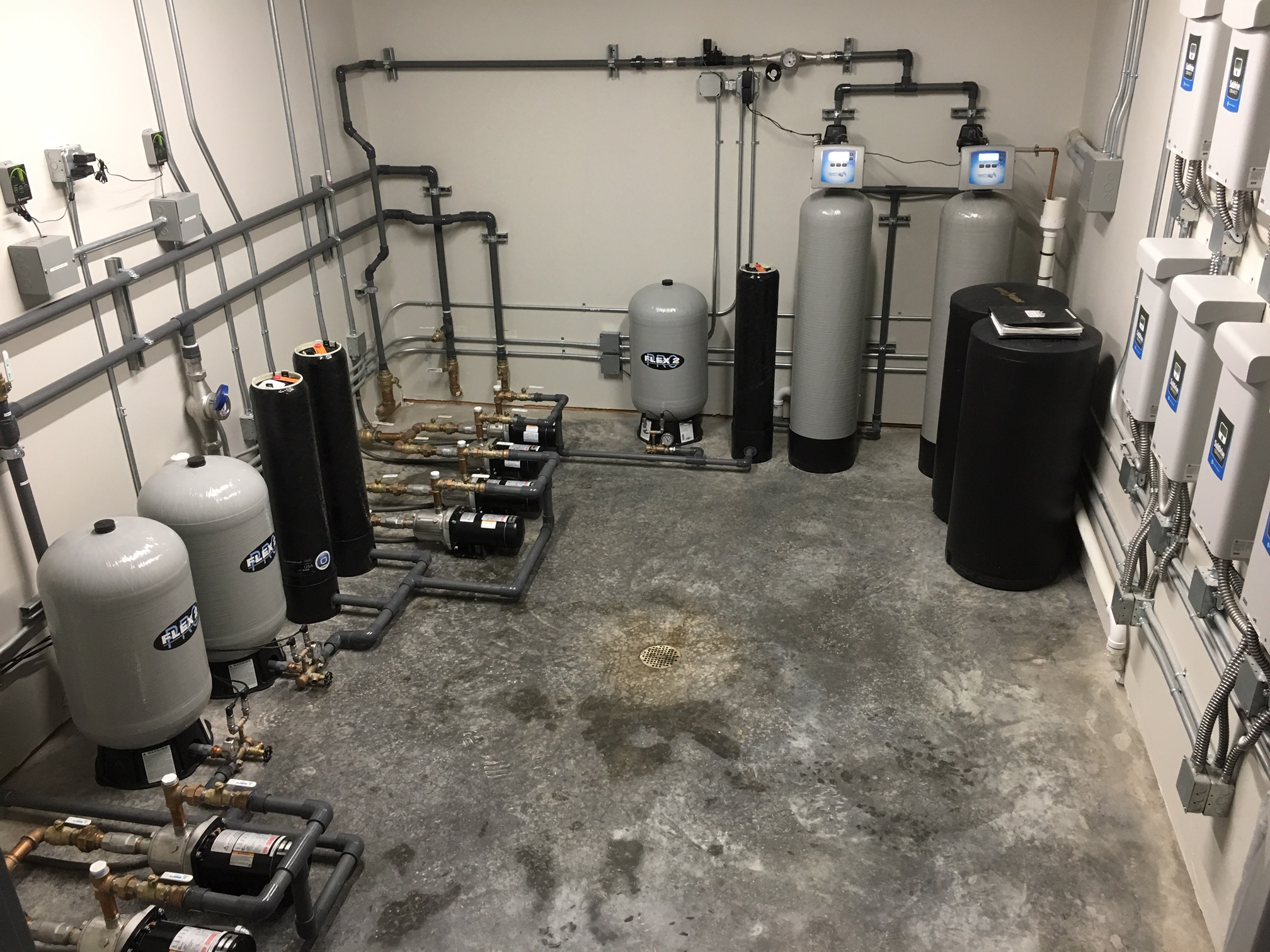 pump room in a Colorado business