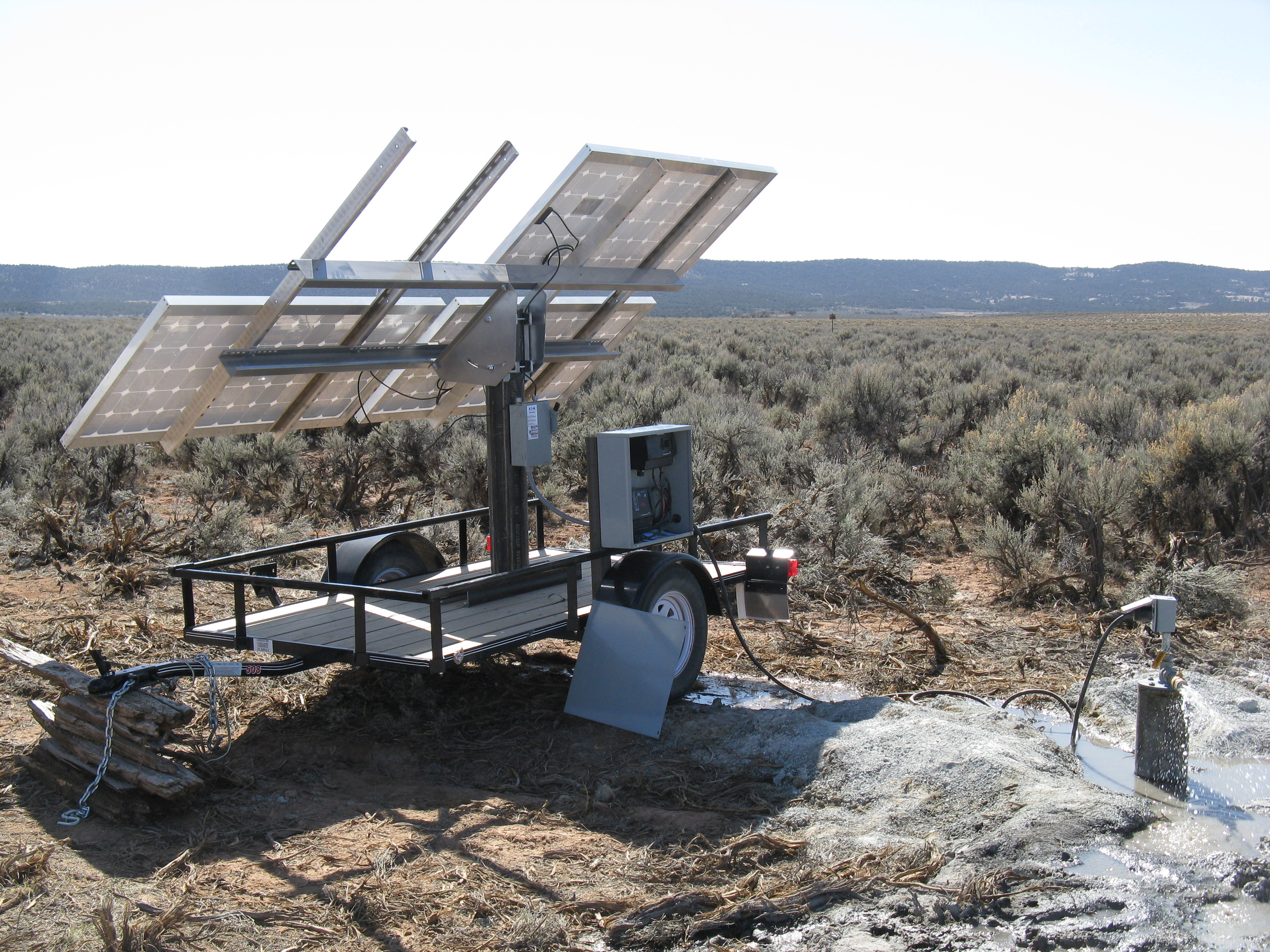 solar well pump in western Colorado