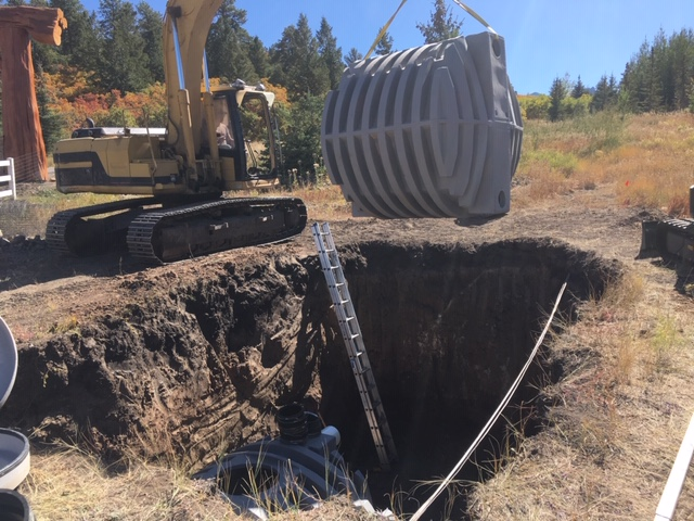Well Water Storage Tank Installation